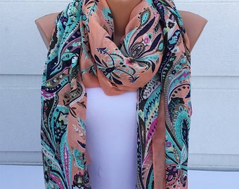 Ethnic Scarf, Cotton Scarf, Voile Scarf, Spring & Summer Scarf, Winter Scarf, Woman Fashion Accessories
