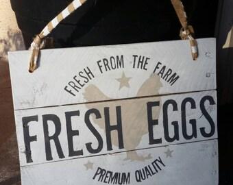 Kitchen Sign - Farm Fresh Eggs -Farmhouse Kitchen
