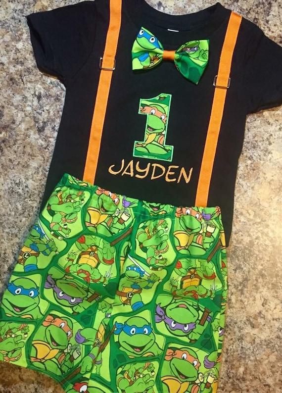 Birthday ninja turtle shirt black and by irresistiblembroider for Where can i buy ninja turtle shirts