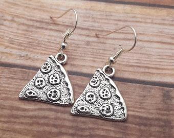 Pizza Earrings, Pizza Slice Earrings, Food Earrings, Junk Food Jewellery, Pizza Charm, Little Earrings, Food Jewelry, Food Lover Gift, Pizza