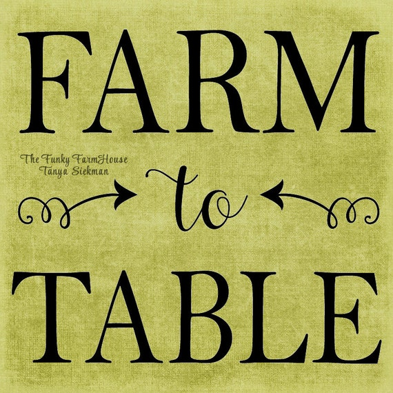 SVG & PNG - Farm to Table