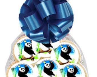 12pack Kung Fu Panda Decorated Sugar Cookies