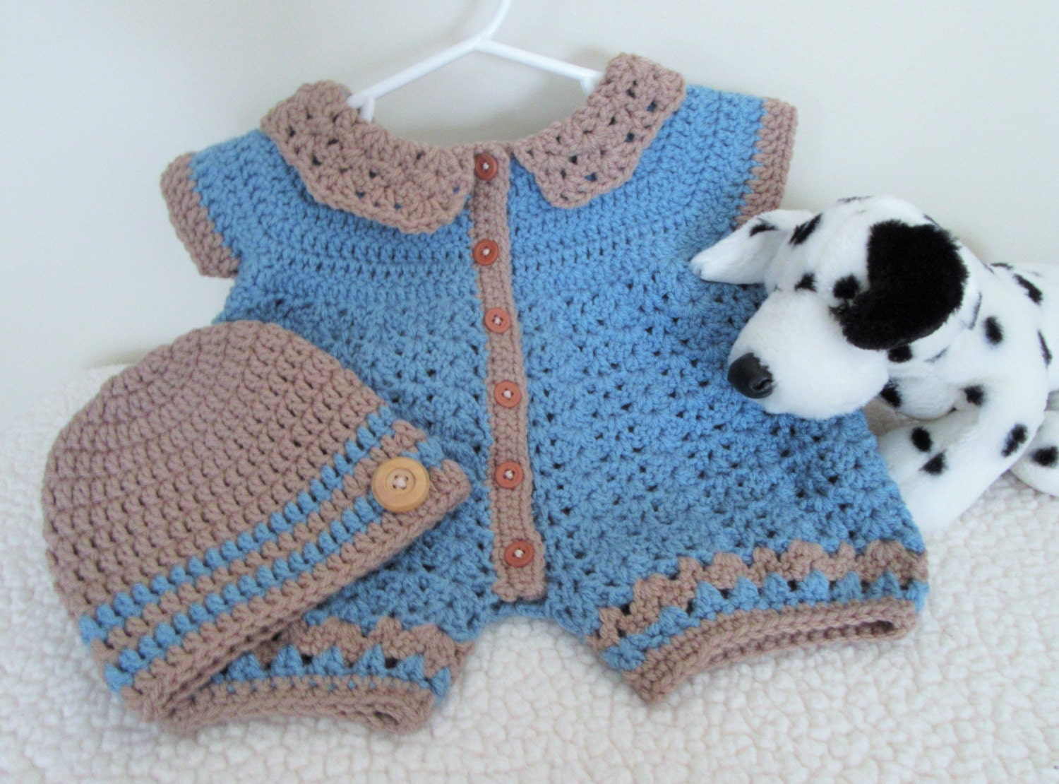 Baby Romper and Hat Crochet Baby Romper Baby by ...