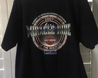 Miracle Ride Of The Rockies Harley Davidson Shirt