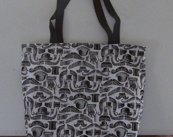 Mustache Tote Bag Set