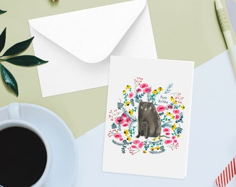 Happy Birthday Card Cat