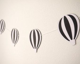 Hot air balloon garland- bunting- banner- nursery decoration- nursery decor- home decor- birthday party