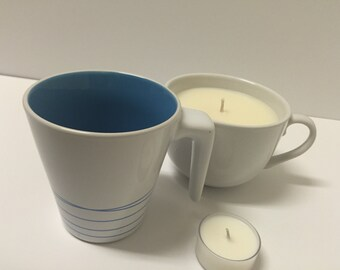Coffee Mug Soy Candle | Upcycled Container | Scented Candle | Unscented Candle | Tea Cup Candle