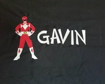 Monogrammed Power Ranger Pillowcase
