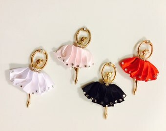 SALE Ballet Ballerina Dance charms with crystal Tutu