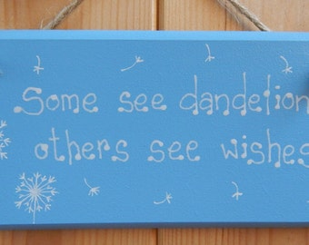 Dandelion plaque, dandelion gift, Gifts for her, Friendship gift, Gifts for Friends, Make a wish, Dandelions