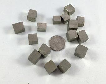 Beautiful PYRITE CUBES// Natural Pyrite Cube Sculptures// Healing Gemstone// Fools Good// Pyrite// Home Decor// Healing Tools// Raw Crystals