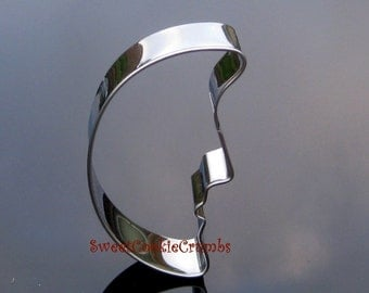 Moon Cookie Cutter- Stainless Steel - USA FREE Shipping