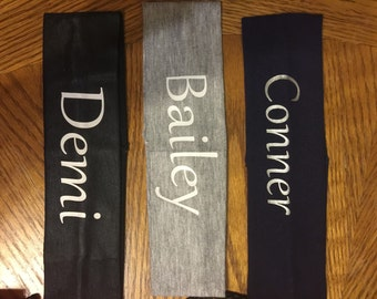 Personalized cotton headbands!
