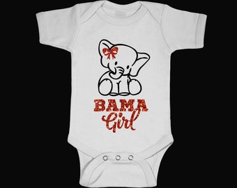 Bama Girl Onesies, Baby Shower gifts, Baby clothing, Girl personalized Onesies,Roll Tide, Alabama