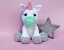 unicorn crochet pattern, unicorn toy, unicorn doll, unicorn pattern, crochet pattern
