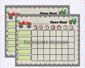 Blank Chore Chart, Printable Chore Chart, Chore Chart for Children, Kids Chore Chart, Printable Chart