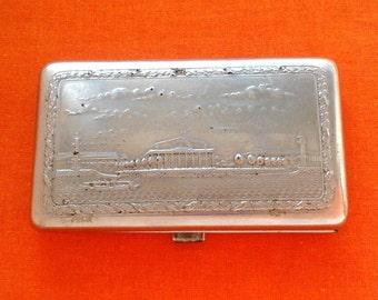 Vintage Soviet mini cigarette case / Holder from USSR - Leningrad / Made in USSR, 1950s