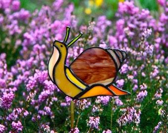 Stained glass snail Suncatcher