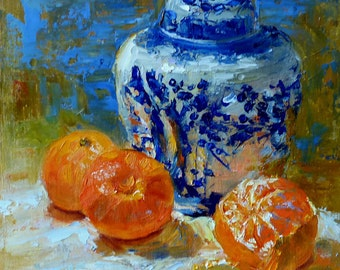 Ginger Jar with Clementines