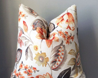 Decorative Pillow, Throw Pillow Cover, Linen pillow, Pillows, Accent pillow, Floral Pillow, home decor