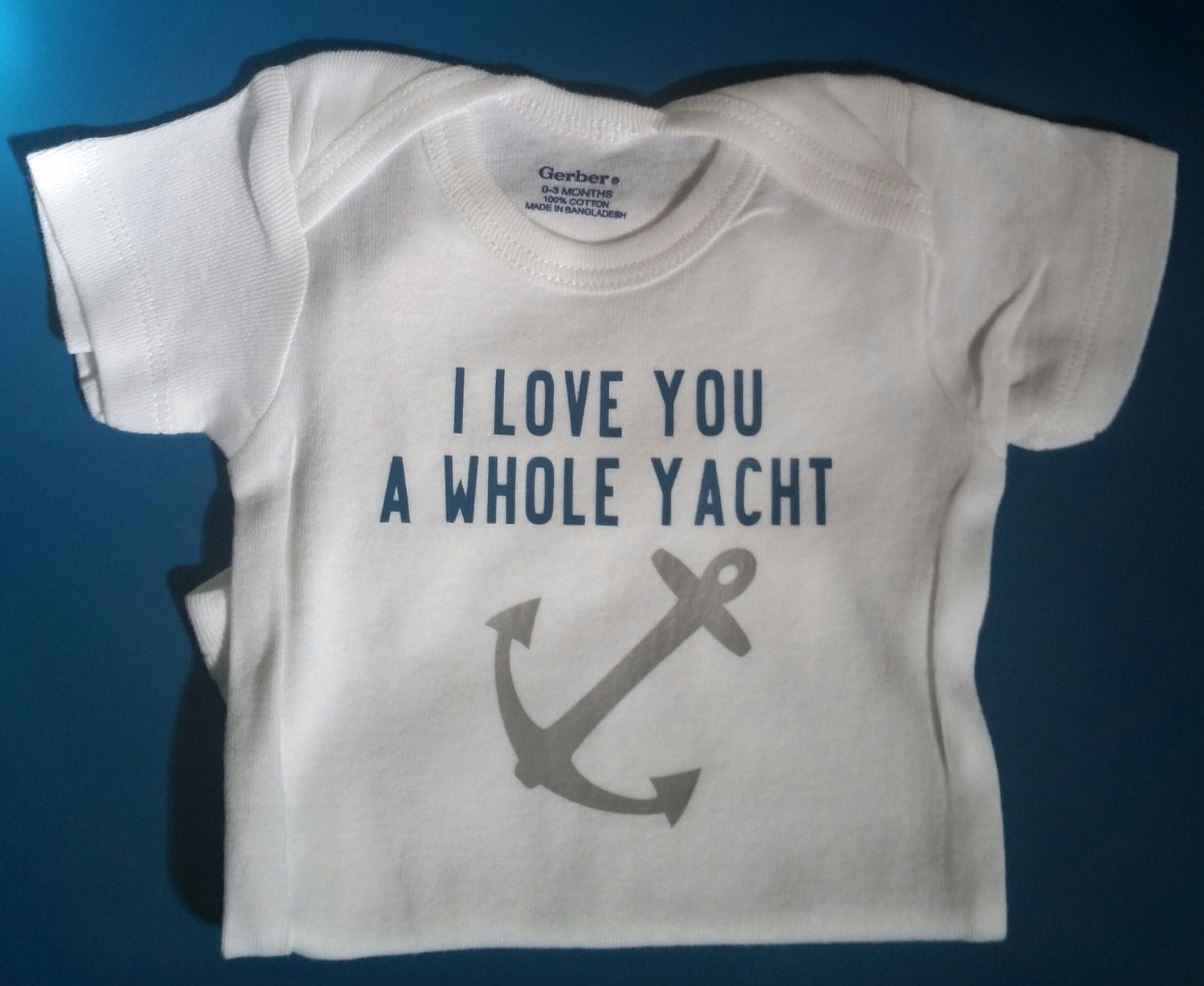 I Love You A Whole Yacht Nautical Baby Clothes Yacht Anchor