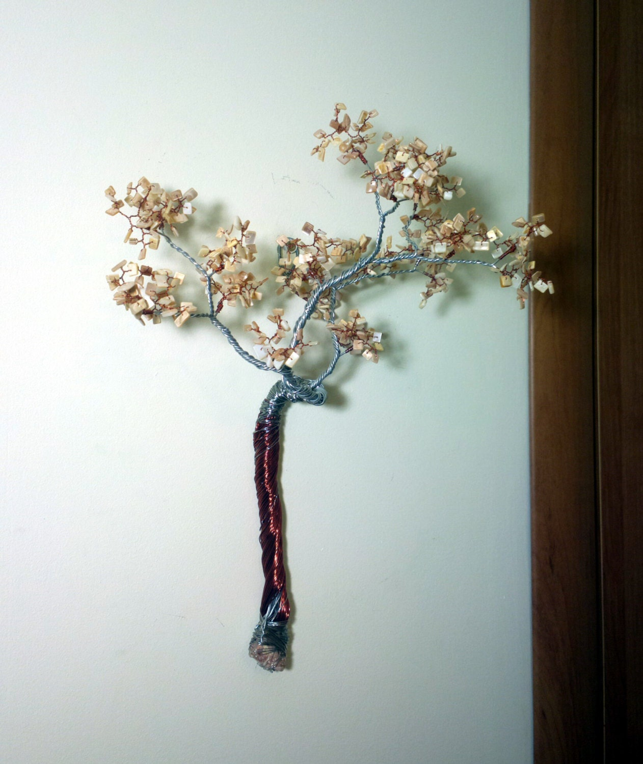 Wall Decor Wire Tree On The Wall Copper Wire Art Wall