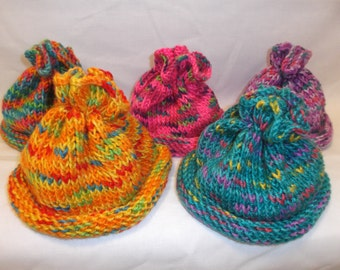 Knitted baby beanie, 3-9 months baby hat