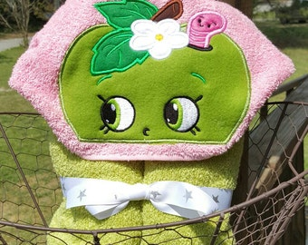 Apple Bloom hooded Towel
