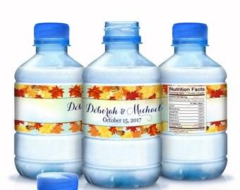 20 Fall Wedding Water Bottle Labels - Autumn Wedding Decor- Fall Wedding Labels - Fall Wedding Decor - Autumn Wedding Stickers