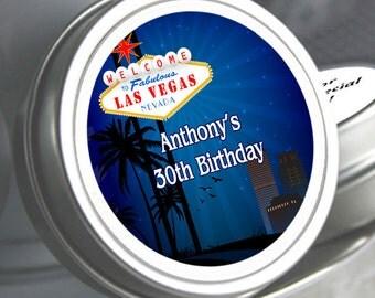 12 Las Vegas Birthday Mint Tins - Las Vegas Favors - Las Vegas Birthday Favors - Las Vegas Birthday Party Supplies