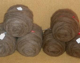 Moorit (Brown) Icelandic Rovings