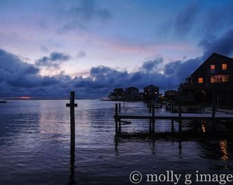 dock photograph sunset water photography 8x10 11x14 16x20