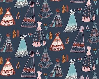 Birch Fabrics - Wildland - Teepees Dusk - Organic Cotton Woven Fabric