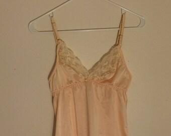 Vintage Peach Silk Camisole
