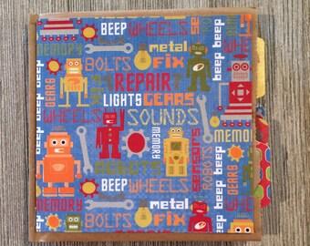 Scrapbook Robots Paper Bag Album