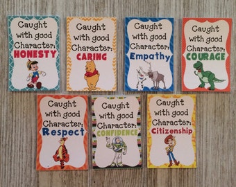 Brag Tags Good Character 7 designs, 6 of each