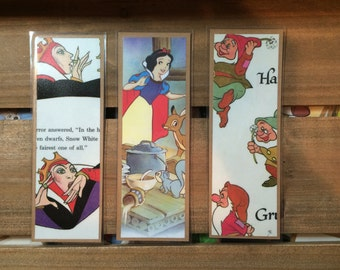 Vintage Upcycled Snow White Bookmarks