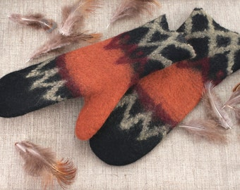 Felted Mittens Wool