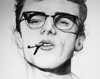 9x12 James Dean Portrait