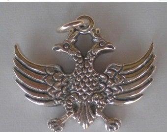For Sale Double Headed Eagle Silver Pendant - Byzantine Empire - Roman - Russian