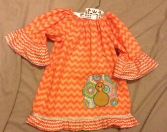 Cute turkey dress ms turkey girl turkey dress