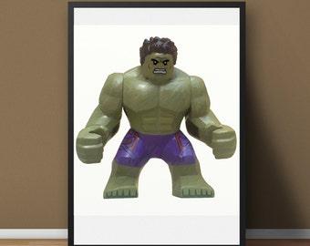 Lego Hulk - Digital Painting (A3)