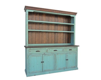 Hutch and Buffet, Sideboard, Server, Reclaimed Wood, China Cabinet, Rustic, Console Cabinet
