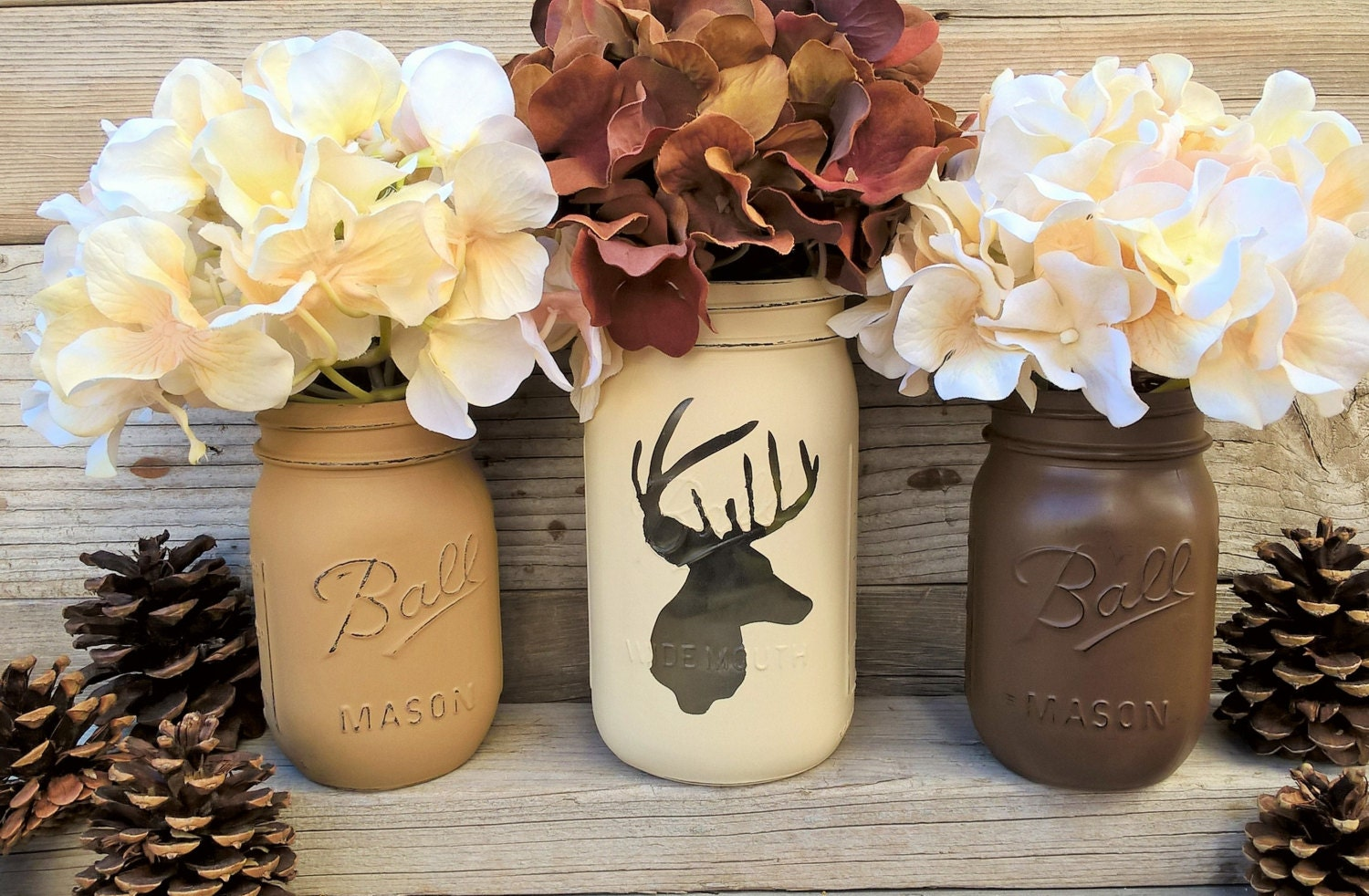 Deer Decor Gift Rustic Home Decor Christmas Gift Cabin Decor Painted