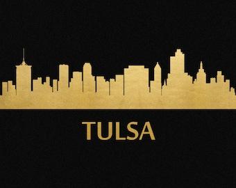 Items Similar To Tulsa Skyline Wall Mural On Etsy