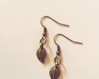 Earrings bronze sheet