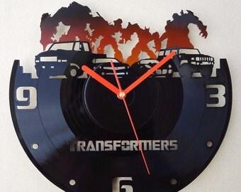 Vinyl wall clock - Transformers