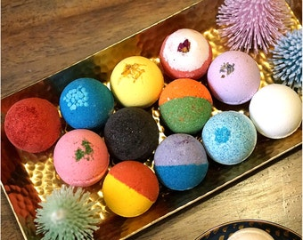 24 Pack Bath Bomb Set Assorted Colors Scents Ultra Lush Handmade Fizzies Shea & Cocoa Butter ...