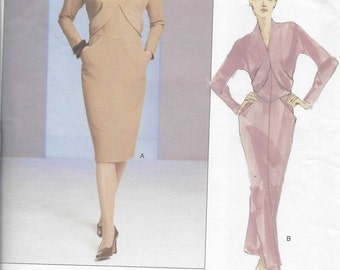Vogue Couture Dress pattern 2754  OOP  Size 6-8-10